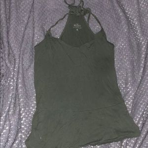 Hollister olive green strappy cami Size-M